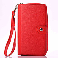 Для Samsung Galaxy Note Бумажник для карт / Кошелек / Флип / Магнитный Кейс для Чехол Кейс для Один цвет Мягкий Искусственная кожа Samsung