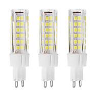 7 G9 LED-lamper med G-sokkel T 75 DIP-LED 650 lm Varm hvid / Kold hvid Dekorativ AC 220-240 V 3 stk.