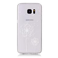 Назначение Samsung Galaxy S7 Edge Чехлы панели Прозрачный С узором Задняя крышка Кейс для одуванчик Мягкий Термопластик для SamsungS7
