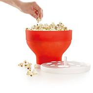 tanie Narzędzia kuchenne-Kuchenka mikrofalowa wytwórnia popcornu silikonowa pop miska z kukurydzy miska wiadro z pokrywką narzędzia do pieczenia kuchenek