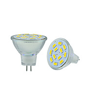 2.5W GU4 (MR11) 2-pins LED-lampen MR11 12 leds SMD 5730 Decoratief Warm wit Koel wit 250-300lm 3000-3500/6000-6500K DC 12V