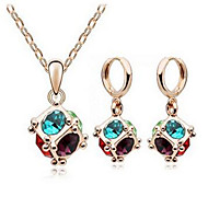 cheap Christmas Jewelry-Women's Crystal Jewelry Set - Crystal Fashion Include Necklace / Earrings Blue For Party Daily Casual Work