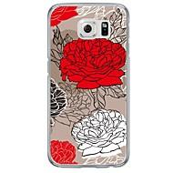 Para Samsung Galaxy S7 Edge Case Tampa Ultra-Fina Translúcido Capa Traseira Capinha Flor Macia PUT para Samsung S7 edge S7 S6 edge plus