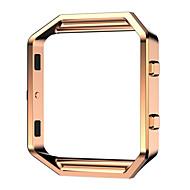 Μαύρο / Rose / Χρυσό / Ασημί Ανοξείδωτο Ατσάλι / Μέταλλο Replace Metal Frame Βραχιόλι με Κούμπωμα Για Fitbit Παρακολουθώ 23 χιλιοστά