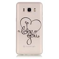 Для Кейс для  Samsung Galaxy Сияние в темноте / Прозрачный Кейс для Задняя крышка Кейс для С сердцем Мягкий TPU SamsungJ7 (2016) / J5