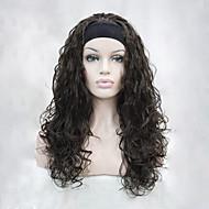 お買い得  -人工毛ウィッグ ウェーブ 密度 キャップレス 女性用 ブラウン カーニバルウィッグ ハロウィンウィッグ ハーフウィッグ 合成