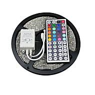 voordelige -Verlichtingssets 150 LEDs RGB Afstandsbediening Knipbaar Kleurveranderend Zelfklevend Koppelbaar DC 12V