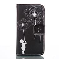 Недорогие Чехлы и кейсы для Galaxy J5-Кейс для Назначение SSamsung Galaxy Кейс для  Samsung Galaxy Бумажник для карт Кошелек со стендом Флип Чехол одуванчик Мягкий Кожа PU для
