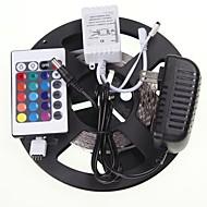 お買い得  -SENCART 5m ライトセット 300 LED 5630 SMD RGB リモートコントロール / カット可能 / 接続可 100-240 V / # / 車に最適 / ノンテープ・タイプ / 変色
