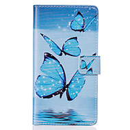 Недорогие Чехлы и кейсы для Galaxy S6 Edge Plus-Кейс для Назначение SSamsung Galaxy Samsung Galaxy S7 Edge Кошелек / Бумажник для карт / со стендом Чехол Бабочка Мягкий Кожа PU для S7 edge / S7 / S6 edge plus