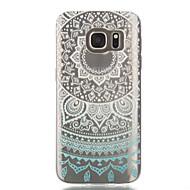 For Samsung Galaxy S7 Edge Transparent Mønster Etui Bagcover Etui blondedesign Blødt TPU for Samsung S7 edge S7 S6 edge S6 S5