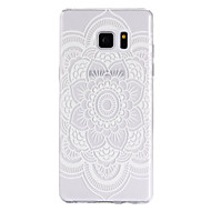 Для Samsung Galaxy Note7 Чехлы панели Прозрачный С узором Задняя крышка Кейс для Мандала Мягкий TPU для Samsung Note 7