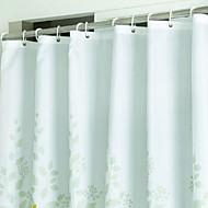 moda su geçirmez renkli çiçek banyo duş perdesi PEVA banyosu kalınlaştırmak