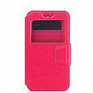 Mert ZTE tok Ütésálló / Betekintő ablakkal / Flip / Ultra-vékeny Case Teljes védelem Case Egyszínű Kemény Műbőr ZTEZTE AXON 7 / ZTE Blade