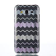 Varten Samsung Galaxy kotelo Läpinäkyvä Etui Takakuori Etui Linjat / aallot Pehmeä TPU Samsung J5 / Grand Prime