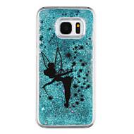 Недорогие Чехлы и кейсы для Galaxy S7 Edge-Кейс для Назначение SSamsung Galaxy Samsung Galaxy S7 Edge Движущаяся жидкость Прозрачный С узором Кейс на заднюю панель Мультипликация