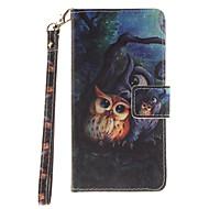 Для Кейс для  Samsung Galaxy Кошелек / Бумажник для карт / Флип / С узором Кейс для Чехол Кейс для Сова Твердый Искусственная кожа Samsung
