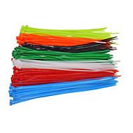 Недорогие Запчасти для мотоциклов и квадроциклов-100pcs / bag зажимной провод самоблокирующийся кабель 4x200mm нейлоновый кабель застежка-молния обертывание