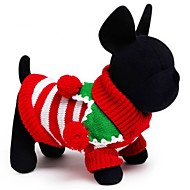 Kat Hond Truien Hondenkleding Katoen Lente/Herfst Winter Vakantie Houd Warm Kerstmis Band Wit Rood Groen Voor huisdieren
