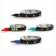 ziqiao 2pcs / lot 15 SMD 30cm luces blancas a prueba de agua de alta potencia de la decoración auto del coche llevó tiras flexibles