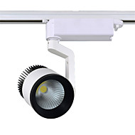 voordelige LED-raillampen-30w 3000LM 3000k / 4000K / 6000K rail verlichting spotlight voor klerenwinkel cob geleid spoor licht (ac110-265v)