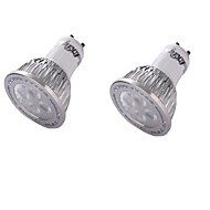 お買い得  LED スポットライト-YouOKLight 2pcs 350lm GU10 LEDスポットライト MR16 4 LEDビーズ SMD 3030 装飾用 温白色 100-240V 85-265V 110-130V 220-240V