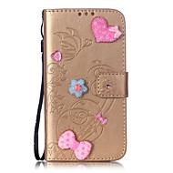пу кожаный материал любовь наклейки дрель шаблон телефон случае для Samsung Galaxy Note5 Примечание4