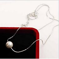 Dames Pearl Strands Parelketting Imitatie Parel Parel Sterling zilver Modieus Sieraden Voor Dagelijks Causaal