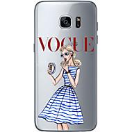 abordables Etuis / Coques pour Samsung-Coque Pour Samsung Galaxy Samsung Galaxy S7 Edge Motif Coque Femme Sexy Flexible TPU pour S7 edge S7 S6 edge plus S6 edge S6