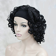 お買い得  -人工毛ウィッグ カール 密度 キャップレス 女性用 カーニバルウィッグ ハロウィンウィッグ ミディアム 合成