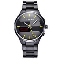 Недорогие Фирменные часы-TOMORO Муж. Спортивные часы / Модные часы / Нарядные часы Календарь / Защита от влаги / LED Нержавеющая сталь Группа Роскошь / На каждый день Черный / Серебристый металл / Светящийся