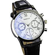 povoljno -YAZOLE Muškarci Ručni satovi s mehanizmom za navijanje Kvarc / PU Grupa Cool Neformalno Crna Smeđa Crn Braon