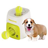 お買い得  ペット用品 & アクセサリー-犬用おもちゃ ペット用おもちゃ ボール型 インタラクティブ おやつボール テニスボール プラスチック