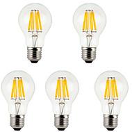 tanie -5pcs 800 lm E26/E27 Żarówka dekoracyjna LED A60(A19) 8 Diody lED COB Dekoracyjna Ciepła biel Zimna biel AC 85-265 V