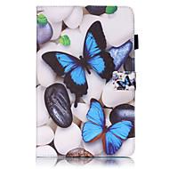 お買い得  携帯電話ケース-ケース 用途 Samsung Galaxy / タブS2 8.0 / タブS2 9.7 Samsung Galaxy ケース ウォレット / カードホルダー / スタンド付き フルボディーケース バタフライ ハード PUレザー のために Tab 4 7.0 / Tab E 9.6 / Tab E 8.0