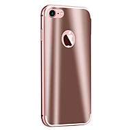Назначение iPhone 8 iPhone 8 Plus Чехлы панели Зеркальная поверхность Задняя крышка Кейс для Сплошной цвет Твердый Металл для Apple