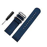 Недорогие Часы для Samsung-Черный / Белый / Синий / Коричневый / Оранжевый Нейлон Спортивный ремешок Для Samsung Galaxy Смотреть 20мм