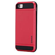 Недорогие Кейсы для iPhone 8 Plus-Назначение iPhone 8 iPhone 8 Plus Чехлы панели Бумажник для карт Задняя крышка Кейс для Сплошной цвет Твердый PC для Apple iPhone 8 Plus