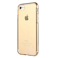 Назначение iPhone X iPhone 8 iPhone 7 iPhone 7 Plus iPhone 6 Чехлы панели Прозрачный Other Задняя крышка Кейс для Сплошной цвет Мягкий
