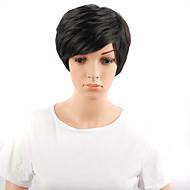 жен. Парики из искусственных волос Без шапочки-основы Волнистые Черный Парик из натуральных волос Карнавальные парики