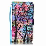 Недорогие Чехлы и кейсы для Galaxy A3(2016)-Кейс для Назначение SSamsung Galaxy A5(2016) / A3(2016) Кошелек / Бумажник для карт Чехол дерево Твердый Кожа PU для A5(2016) / A3(2016)