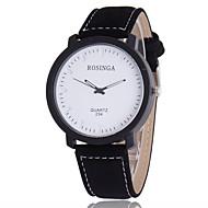 abordables Relojes Formales-Hombre Reloj de Moda Reloj Casual Cuarzo / Gran venta PU Banda Casual Negro Marrón