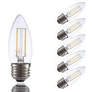 お買い得  -GMY® 6本 2 W 200 lm E26 / E27 フィラメントタイプLED電球 2 LEDビーズ COB 調光可能 温白色 / 6個