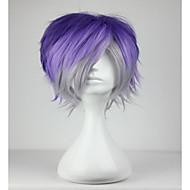 お買い得  -人工毛ウィッグ / コスチュームウィッグ カール 合成 ブルー かつら 女性用 ショート キャップレス ブルー hairjoy