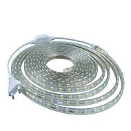 رخيصةأون -12M 220V higt مشرق ضوء LED قطاع مرنة 5050 720smd ثلاثة الكريستال أضواء شريط ضوء ماء حديقة مع الاتحاد الأوروبي قابس الطاقة