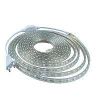12m의 220V의 higt 밝은는 유럽 연합 (EU) 전원 플러그와 5050 720smd 세 크리스탈 방수 라이트 바 정원 조명 유연한 빛 스트립을 주도
