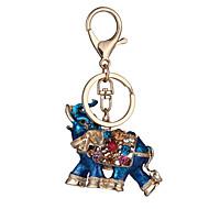 abordables Porte-clés-Porte-clés Bijoux Rouge Bleu Strass Plaqué or Alliage Personnalisé Géométrique Original Animal euroaméricains Mode Unisexe