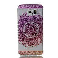 Недорогие Чехлы и кейсы для Galaxy S7-Кейс для Назначение SSamsung Galaxy S7 edge S7 Ультратонкий Прозрачный С узором Кейс на заднюю панель Цветы Мягкий ТПУ для S7 edge S7 S6