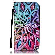 Для Кошелек / Бумажник для карт / со стендом Кейс для Чехол Кейс для Цветы Твердый Искусственная кожа SamsungS7 edge / S7 / S6 edge / S6