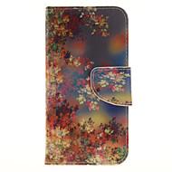 Для samsung galaxy j3 j3 (2016) цветной цветочный узор pu кожаный корпус с гнездом для карточек